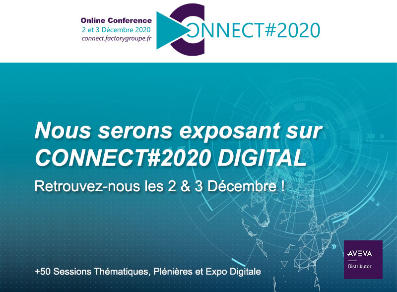 Bannière exposant #Connect2020 Digital de Wonderware
